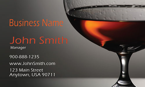 Bar and Wine Restaurant Business Card - Design #1001011