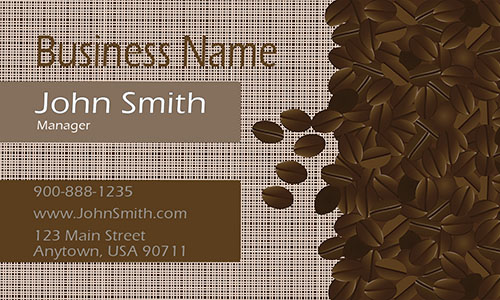 Coffee Beans Restaurant Business Card - Design #1001071