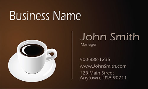 Brown Coffee Shop Business Card - Design #1001091