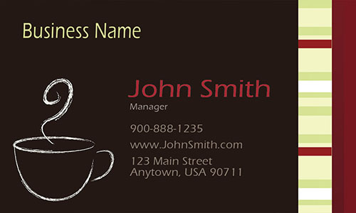 Italian Coffee shop Restaurant Business Card - Design #1001101