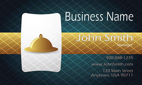 Cafe and Restaurant Business Card - Design #1001151