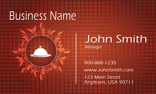 Restaurant Catering Business Card - Design #1001161