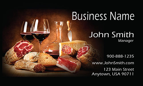 Meet and Wine Restaurant Business Card - Design #1001171