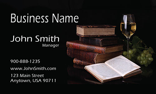 Coffee shop Library Business Card - Design #1001181