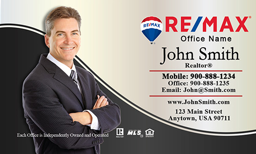 Elegant Plain with Personal Photo Remax Business Card - Design #101131