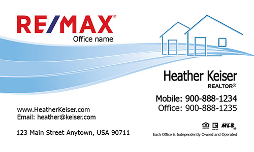 Simple House Remax Business Card - Design #101321