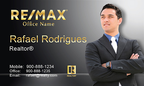 Gray Remax Business Card - Design #101501