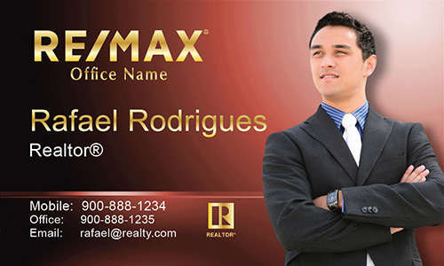 Red Remax Business Card - Design #101504