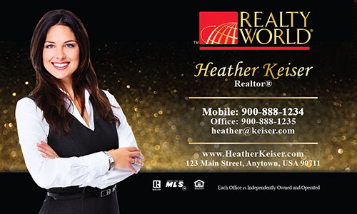 Black Realty World Business Card - Design #112071