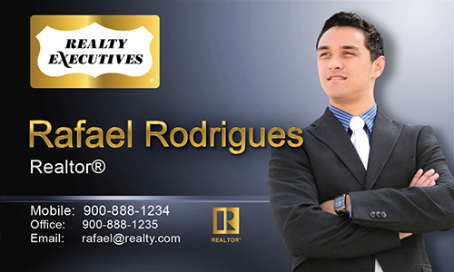 Blue Realty Executives Business Card - Design #113041