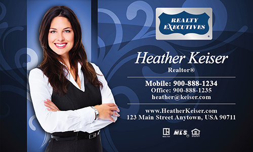 Blue Realty Executives Business Card - Design #113072