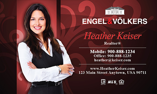Red Engel Volkers Business Card - Design #114052