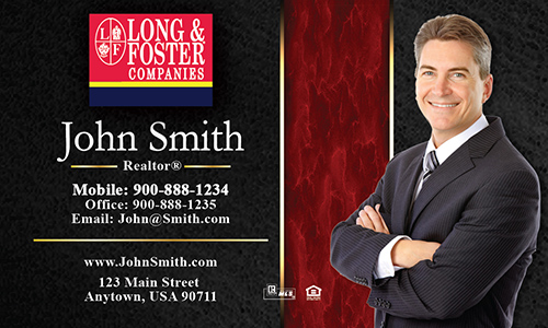 Red Long Foster Business Card - Design #116071