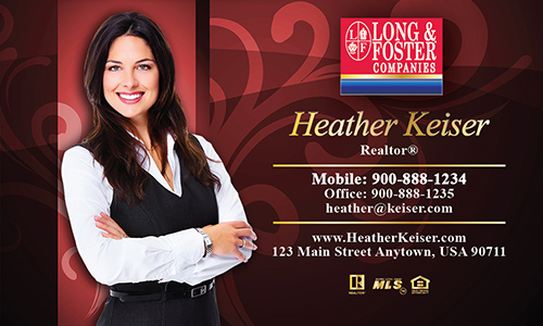 Red Long Foster Business Card - Design #116081