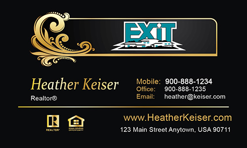 Black Exit Business Card - Design #117031