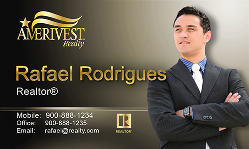 Brown Amerivest Realty Business Card - Design #124032
