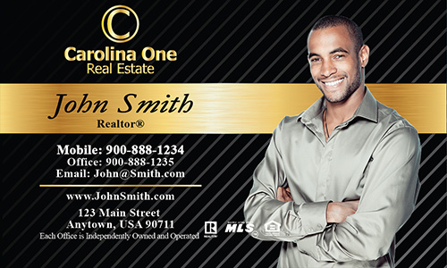 Black Carolina One Business Card - Design #129021