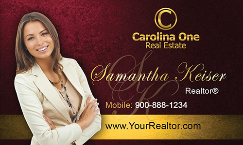 Red Carolina One Business Card - Design #129052