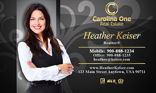 Black Carolina One Business Card - Design #129071