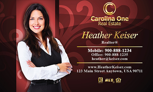 Red Carolina One Business Card - Design #129073