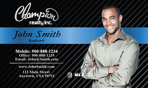 Black Champion Realty Business Card - Design #130021
