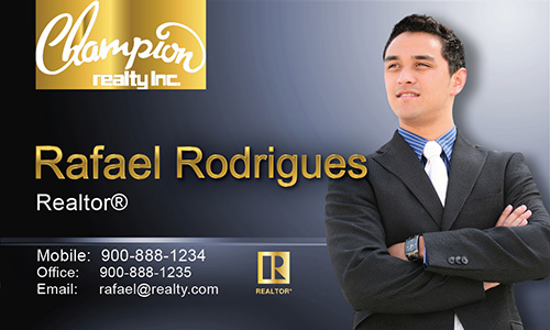 Blue Champion Realty Business Card - Design #130032