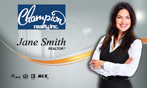 Blue Champion Realty Business Card - Design #130051