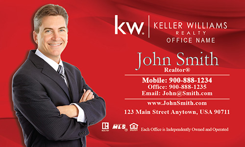 Keller Williams Agent Business Card Red - Design #103011