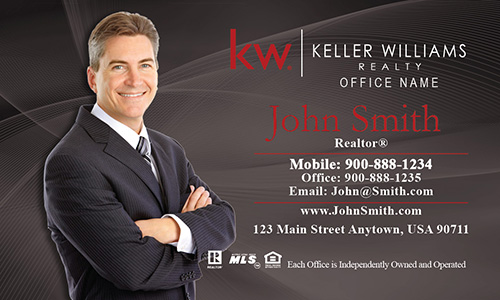 Keller Williams Business Card Gray - Design #103021