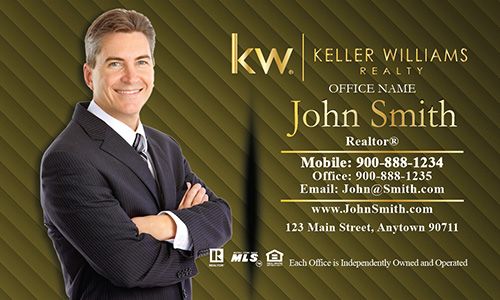 Gold Keller Williams Business Card - Design #103064