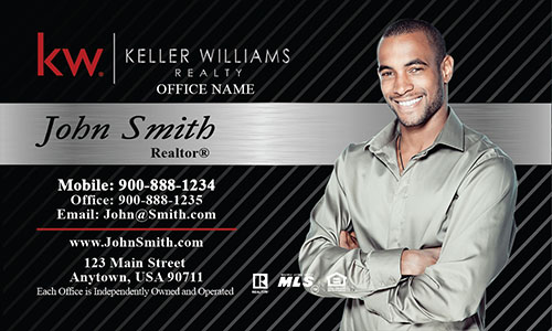 Keller Williams Business Card Black and Gray - Design #103152