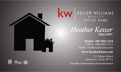 Keller Williams Realtor Business Card Modern Gray - Design #103241