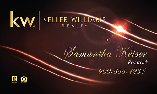 Red Keller Williams Business Card - Design #103511