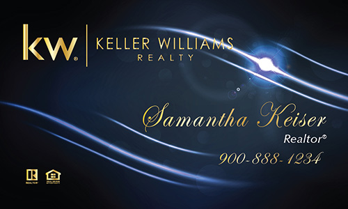 Blue Keller Williams Business Card - Design #103513