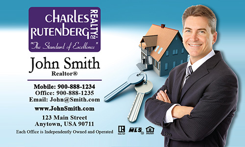 Blue Charles Rutenberg Realty Business Card - Design #131011