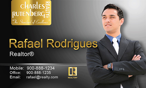 Gray Charles Rutenberg Realty Business Card - Design #131032