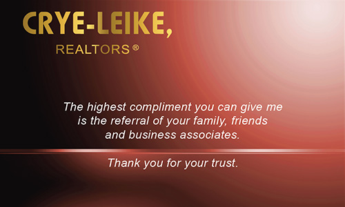 Red Crye Leike Realtors Business Card - Design #134031