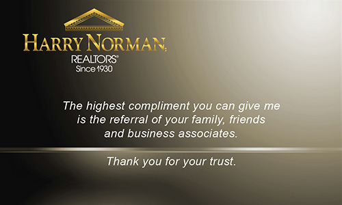 Brown Harry Norman Realtors Business Card - Design #137031
