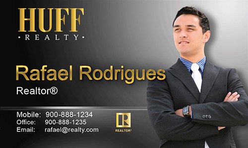 Black Huff Realty Business Card - Design #138032