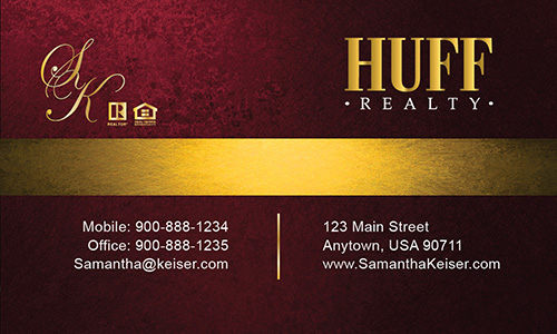 Red Huff Realty Business Card - Design #138042