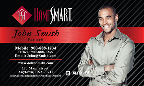 Red Home Smart Business Card - Design #140021