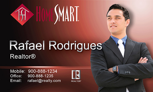 Red Home Smart Business Card - Design #140032
