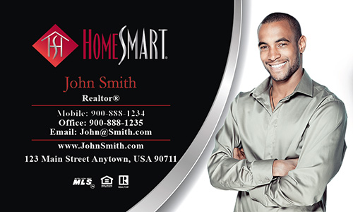 Black Home Smart Business Card - Design #140041