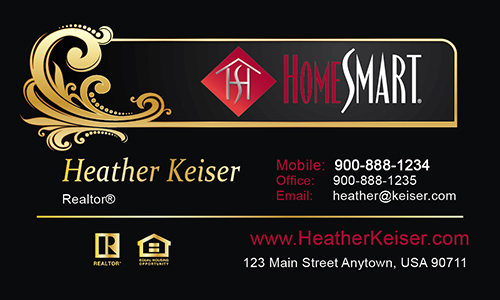 Black Home Smart Business Card - Design #140051