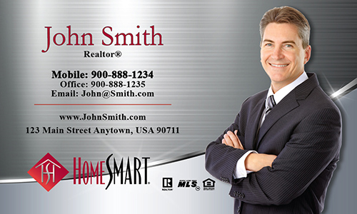Gray Home Smart Business Card - Design #140061