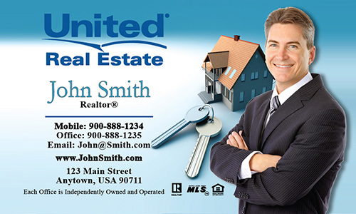 Blue United Real Estate Business Card - Design #141011