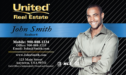 Blue United Real Estate Business Card - Design #141021