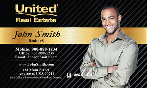 Black United Real Estate Business Card - Design #141022