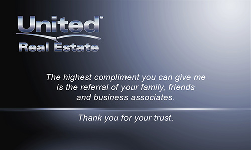 Blue United Real Estate Business Card - Design #141031