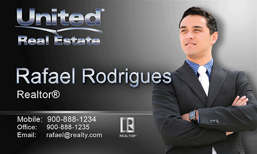 Black United Real Estate Business Card - Design #141032